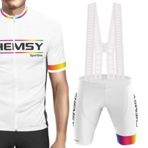 Maillot cuissard assorti Shemsy blanc