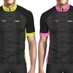 Maillot cycliste jaune ou rose fluo