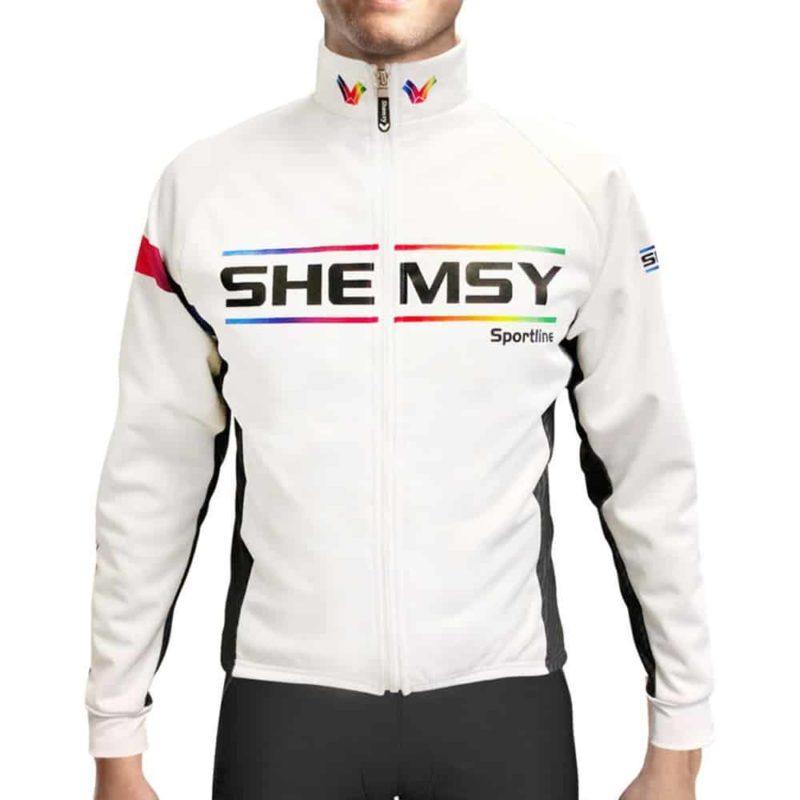 veste cycliste thermique blanche